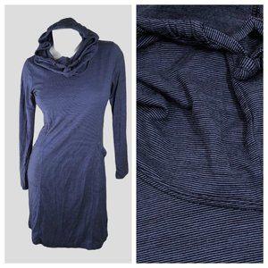 Nau M2 Striped Merino Wool Blend Hooded Dress EUC